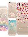 Pour Coque iPhone 6 Coques iPhone 6 Plus Ultrafine Transparente Motif Coque Coque Arrière Coque Dessin Animé Flexible PUT pouriPhone 6s