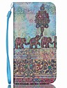 Elephant PU Leather Wallet Hand Strap Phone Case for Samsung Galaxy S3/S3MI/S4/S4MINI/S5/S5MINI/S6/S6 Edge/S6 edge