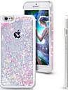 свежий блеск Bling динамический сердце зыбучие пески жидкого твердом переплете явный случай для Iphone 6 плюс / 6S плюс (ассорти цветов)