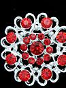 Feminino Cristal Prata Chapeada Liga Moda Vermelho Jóias Diário