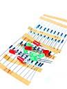 50pcs 1k 10k 100k 220 ohm 1 / 4W résistance de film métallique et kit led pour raspberry pi / arduino