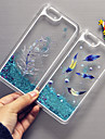 MAYCARI®Flying Feather Bling Quicksand Star Pattern Transparent PC Back Case for iPhone 6 /iphone 6s (Assorted Colors)