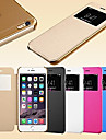 For iPhone 6 Case / iPhone 6 Plus Case with Stand / with Windows / Flip Case Full Body Case Solid Color Hard PU LeatheriPhone 6s Plus/6
