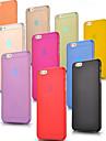 Для Кейс для iPhone 6 / Кейс для iPhone 6 Plus Ультратонкий / Матовое / Полупрозрачный Кейс для Задняя крышка Кейс для Один цвет Твердый