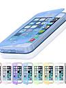 Pour Coque iPhone 5 Clapet Coque Coque Intégrale Coque Couleur Pleine Flexible PUT pour iPhone SE/5s/5