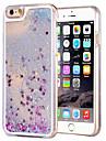 Para Capinha iPhone 6 / Capinha iPhone 6 Plus Liquido Flutuante / Transparente Capinha Capa Traseira Capinha Brilho com Glitter Rígida PC
