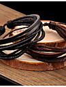 Bracelet/Leather Bracelets Leather Daily / Casual Jewelry  Black / Brown,1pc Christmas Gifts
