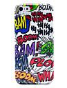 Bam lança Doodle Pattern Caso Voltar plástico brilhante para iPhone 5c