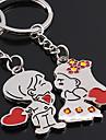 Une paire Boy & Girl coeur amoureux Porte-clés en forme