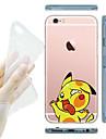 Pour Coque iPhone 6 Coques iPhone 6 Plus Transparente Coque Coque Arrière Coque Dessin Animé Flexible PUT pouriPhone 7 Plus iPhone 7