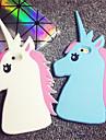 3d бег лошади крышка случая Мягкий силиконовый чехол для iPhone 5с (ассорти цветов)