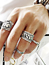 Midi Rings Alloy Flower Carved Punk Fashion Jewelry Party Daily Casual 1set