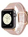 Banda de relogio para relógio de Apple 38 mm fivela moderna pulseira de faixa de reposição de couro genuíno