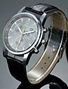 Men's Alloy Round Dial PU Band Quartz Analog Wrist Watch Cool Watch Unique Watch Fashion Watch