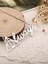 Necklace Pendant Necklaces Jewelry Special Occasion Birthday Gift Fashion Initial Jewelry Alloy Women Gift Gold