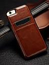 роскошь PU кожаный чехол для всего тела с слот для карт и стоят ТПУ крышку для Iphone 5 / 5S (ассорти цветов)