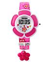 Дети Модные часы Часы-браслет LED Цифровой PU Группа Розовый Фиолетовый