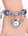 Mulheres Relógio de Moda Bracele Relógio Quartzo Cronógrafo Tecido Banda Boêmio Elegantes Branco Azul Vermelho VerdeBranco Azul Escuro