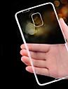 Для Samsung Galaxy Note Ультратонкий / Прозрачный Кейс для Задняя крышка Кейс для Один цвет TPU Samsung Note 5 / Note 4 / Note 3
