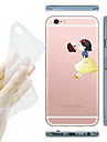 For iPhone 7 MAYCARI®Kissing at Apple Soft Transparent TPU Back Case for iPhone5/iPhone 5S