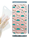 For iPhone 7 MAYCARI® Unicorn's Happy Life Soft Transparent TPU Back Case for iPhone 6s 6 Plus