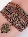 Bracelet Bracelets Cuir Amour Inspiration Quotidien Décontracté Sports Regalos de Navidad Bijoux Cadeau1pc