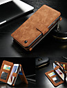 For Samsung Galaxy S7 edge S7 Case Wallet Genuine Leather Solid Color Hard Case Cover S6 edge plus S6 edge S6 S5