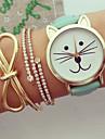 Masculino Mulheres Unissex Relógio de Moda Quartzo Cronógrafo PU Banda Preta Branco Azul Vermelho Verde Rosa Cores MúltiplasPreto