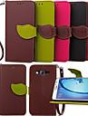 Pour Samsung Galaxy Coque Porte Carte Portefeuille Avec Support Clapet Coque Coque Intégrale Coque Couleur Pleine Cuir PU pour Samsung