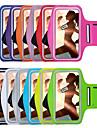 Pour Avec Ouverture Brassard Coque Brassard Coque Couleur Pleine Flexible Tissu pour UniverseliPhone 7 Plus iPhone 7 iPhone 6s Plus/6