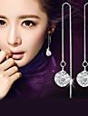 Серьги-слезки Имитация Алмазный Стерлинговое серебро Хрусталь Имитация Алмазный Мода Классика Серебряный БижутерияСвадьба Для вечеринок