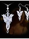 European and American Fashion Lord of the Rings Wizard Princess Evening Star Necklace Earring Sets
