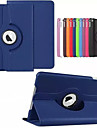 For Case Cover with Stand Auto Sleep / Wake 360° Rotation Origami Full Body Case Solid Color Hard PU Leather for AppleiPad (2017) iPad