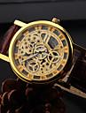 Мужской Наручные часы Кварцевый Кожа Группа Кольцеобразный Черный Коричневый 1 # 2 # 3 # 4 #