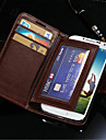 durable pu étui portefeuille en cuir pour les i9500 Samsung Galaxy S