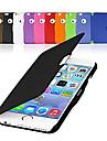 Pour Coque iPhone 6 Coques iPhone 6 Plus Clapet Dépoli Coque Coque Intégrale Coque Couleur Pleine Dur Cuir PU pouriPhone 6s Plus/6 Plus