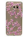 Para Samsung Galaxy Capinhas Transparente Capinha Capa Traseira Capinha Flor TPU Samsung S6 edge plus / S6 edge / S6 / S5 Mini / S5