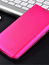 Para Samsung Galaxy Capinhas Porta-Cartão / Flip Capinha Corpo Inteiro Capinha Cor Única Couro PU Samsung S6 edge
