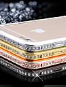 Para Capinha iPhone 6 / Capinha iPhone 6 Plus Com Strass Capinha Protetora de Quinas Capinha Cor Única Rígida MetaliPhone 6s Plus/6 Plus
