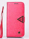 High Quality Diamond Pattern with Stand PU Leather Cover for Samsung S4/S5/S6/S6 Edge