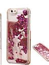 brilho areia moda da tampa do caso teste padrão de estrela que bling areia movediça transparente para iPhone 4 / 4S
