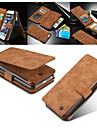 CASEME 2in1 Genuine Leather Zipper Wallet Card Slot Back Shell Case For iPhone 7 7 Plus 6s 6 Plus SE 5s 5