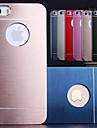 luxo df® cor sólida escovado caso de alumínio para iPhone 5 / 5s