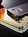 Plating Mirror Back with Metal Frame Phone Case for Samsung Galaxy S6 edge+/S6/s6edge