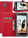 Для Кейс для HTC Кошелек / Бумажник для карт / со стендом / Флип Кейс для Чехол Кейс для Один цвет Твердый Искусственная кожа HTC