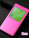 용 삼성 갤럭시 케이스 윈도우 / 자동 슬립/웨이크 기능 / 플립 케이스 풀 바디 케이스 단색 인조 가죽 Samsung S5 Mini