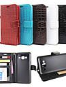 Pour Samsung Galaxy Coque Portefeuille Porte Carte Avec Support Clapet Relief Coque Coque Intégrale Coque Couleur Pleine Cuir PU pour