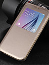 Original PU Leather Smart Auto-Sleep Full Body Case for Samsung Galaxy S6 G9200
