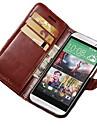 용 HTC케이스 카드 홀더 지갑 스탠드 플립 케이스 풀 바디 케이스 단색 하드 인조 가죽 용 HTC HTC One M8