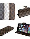 Design Especial/Treliça - iPhone 6 Plus - Cobertura de Trás (Branco/Castanho/Cinzento , Pele PU)